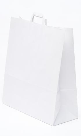 Papírtáska Szalagfüles Fehér