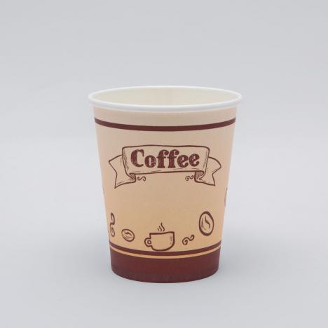 Kávés papírpohár capuccinós babos design