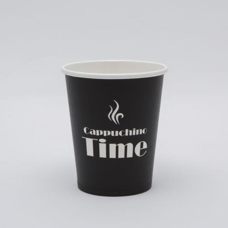 Kávés papírpohár time design