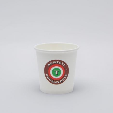 Kávés papírpohár nemzeti dohánybolt