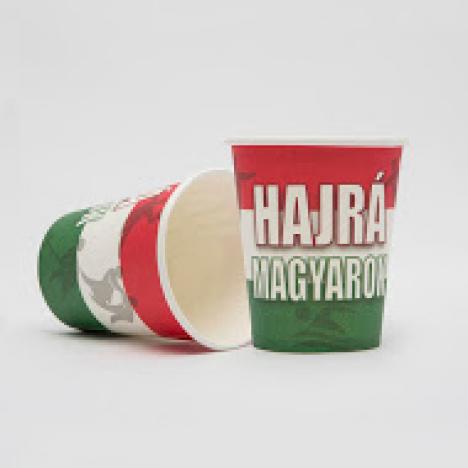 Kávés papírpohár Hajrá Magyarok